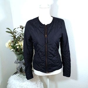 H&M L.O.G.G NAVY QUILTED JACKET SZ. 4 EUC